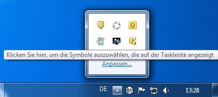 Icon Anzeige anpassen