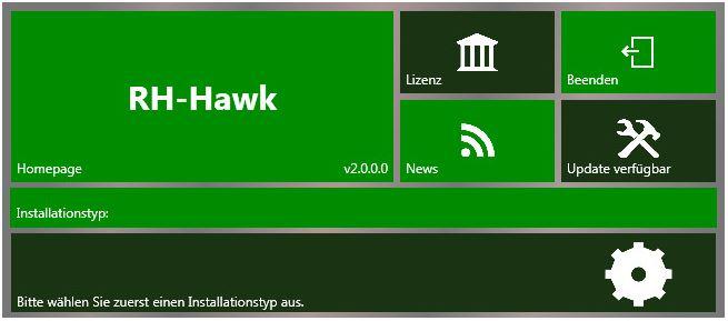 RH-Hawk Installation Auswahlfenster